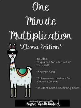 One Minute Multiplication (1-12), Llama Edition