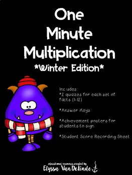 One Minute Multiplication (1-12), Winter Edition