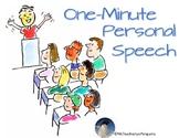 One-Minute Personal Speech