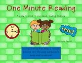 One Minute Reading: Fluency Practice