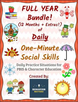 One-Minute Social Skills BUNDLE!