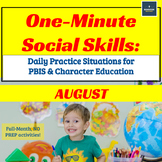 One-Minute Social Skills for August (Daily Practice)