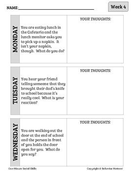 One-Minute Social Skills for May (Daily Practice)