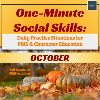 One-Minute Social Skills for October (Daily Practice)