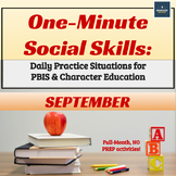 One-Minute Social Skills for September (Daily Practice)
