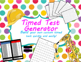 One Minute Timed Test and Worksheet Generator