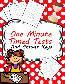 One Minute Timed Tests for Addition and Subtraction (0-12) and Mixed