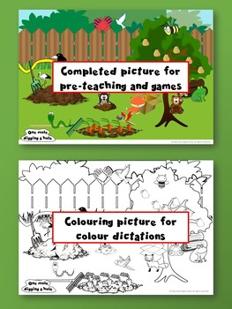 One Mole Digging a Hole - Find and Stick Craft