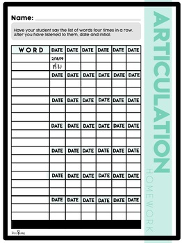 One Month Articulation Drill Sheets #feb2019slpmusthave