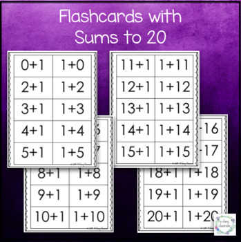 One More +1 - Basic Facts Addition Strategy Worksheets and Flashcards