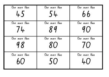 One More Bingo (2 Digit)