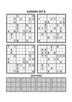 One More Free Sudoku Set of Four Puzzles