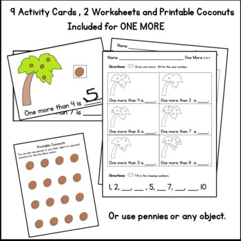 One More:  Kindergarten Math Center:  Chicka Chicka Coconuts K.CC.4c
