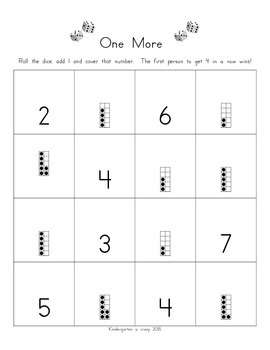 One More Math Station/Center Game