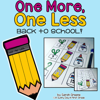 One More, One Less: Back to School!