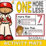 One More One Less Baseball Number Activity Mats 1-20
