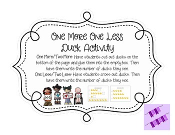 One More One Less Duck Activity