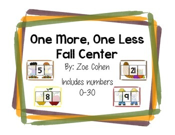 One More, One Less Fall Math Center