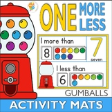 One More One Less Gumball Number Activity Mats 1-20