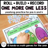 One More One Less Math Centers Year Long Set for Preschool and Kindergarten