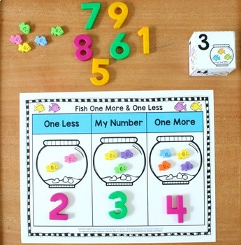 One More One Less Math Centers Year Long Set for Preschool ...