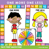 One More One Less Math Game with Numbers to 50