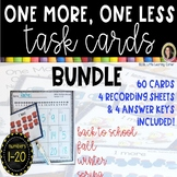 One More One Less Math Task Card Bundle