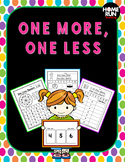 One More, One Less Printables and Games (Suitable for dist