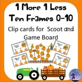 One More One Less Pumpkins 0-10 Scoot and Clip Cards