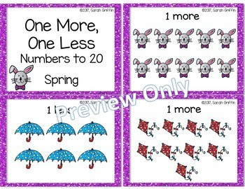 One More, One Less - Spring Math Center ~ SCOOT