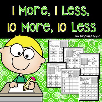 Math 1 More 1 Less 10 More 10 Less Teaching Resources Teachers