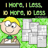 1 More, 1 Less, 10 More, 10 Less Worksheets