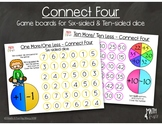 """One More/One Less; Ten More/Ten Less - """"Connect Four"""" Games"""