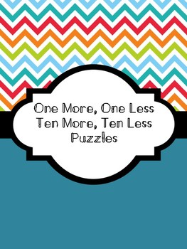 One More, One Less; Ten More, Ten Less Puzzles