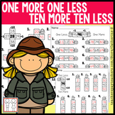 BUNDLE: One More One Less Ten More Ten Less Worksheets