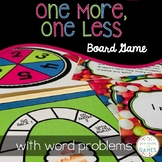 One More, One Less Word Problem Game and Task Cards