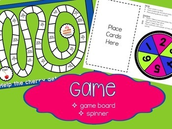 One More, One Less Game and Task Cards with Word Problems