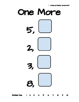 One More, One Less- Worksheets