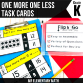 One More and One Less - Kindergarten Math Tasks Cards