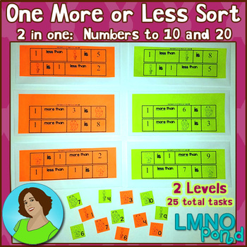 One More or Less Sort (Numbers to 10 and 20)
