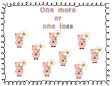 One More or One Less Game, numbers up to ten (math activity)