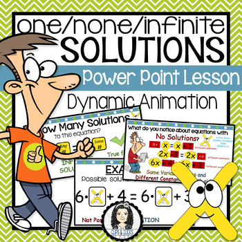 One, None or Infinite Solutions PowerPoint Lesson