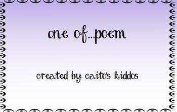 One Of.....poem - Freebie!