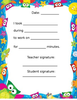 Letter to Parent: One-On-One Time with Students: