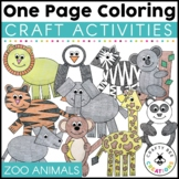 One Page Crafts Zoo Animals Coloring l Distance Learning