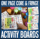 One Page Core and Fringe Vocabulary Boards AAC Speech therapy