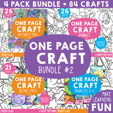 One Page Craft Bundle 2 - Alphabet, Blends, Numbers, Animals