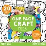 One Page Craft Bundle {Pack #3 - Print & Go Crafts + Writi