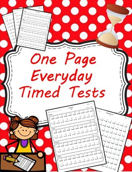 One Page Everyday Timed Tests Multiplication and Division (0-12) and Mixed