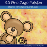 Fables - One Page Fable Passages from Around the Globe Distance Learning